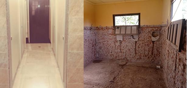Remodelación baños secundaria