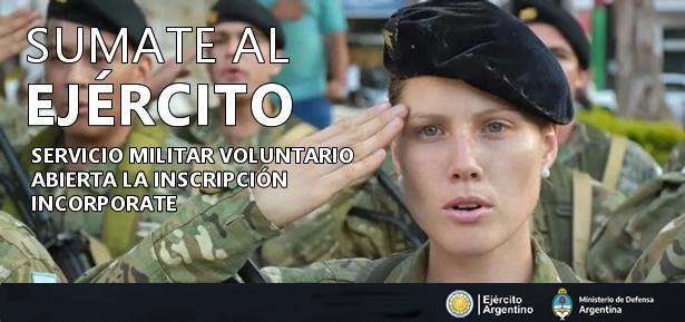 Incorporación de soldados voluntarios